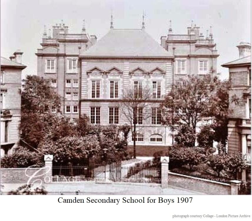 Camden secondary school for boys 1907