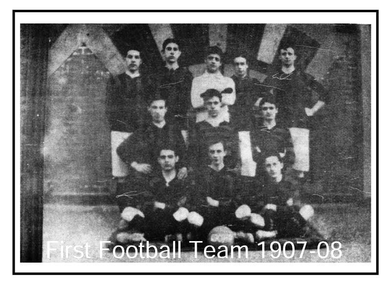 First Football Team 1907-08