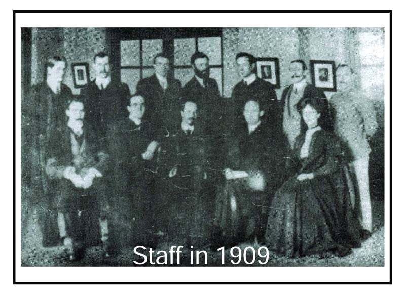 Staff in 1909
