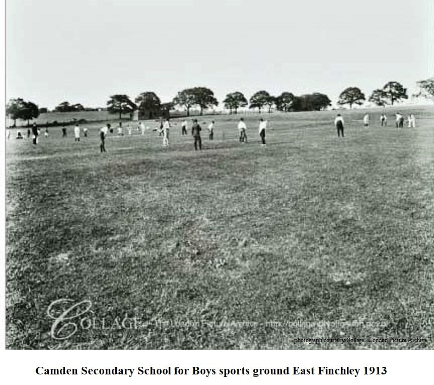 Camden Secondary School for Boys sports ground East Finchley 1913