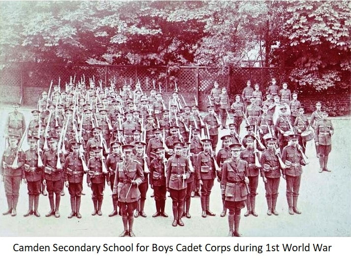 Camden Secondary School for Boys Cadet Corps during 1st World War