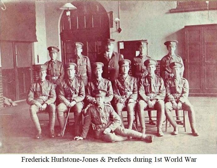 Frederick Hurlstone-Jones & Prefects during the 1st World War