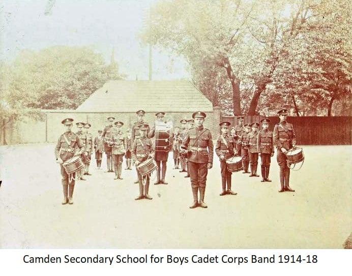 Camden Secondary School for Boys Cadet Corps Band 1914-18