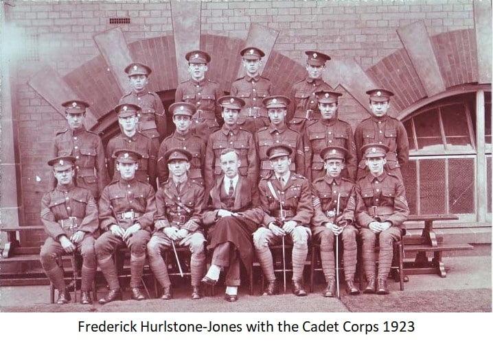 Frederick Hurstone-Jones with the Cadet Corps 1923