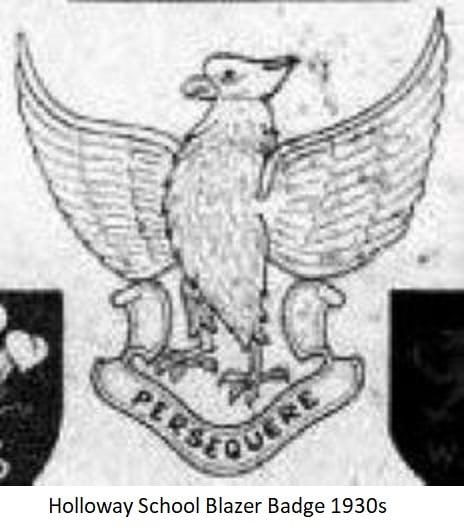 Holloway School Blazer Badge 1930s