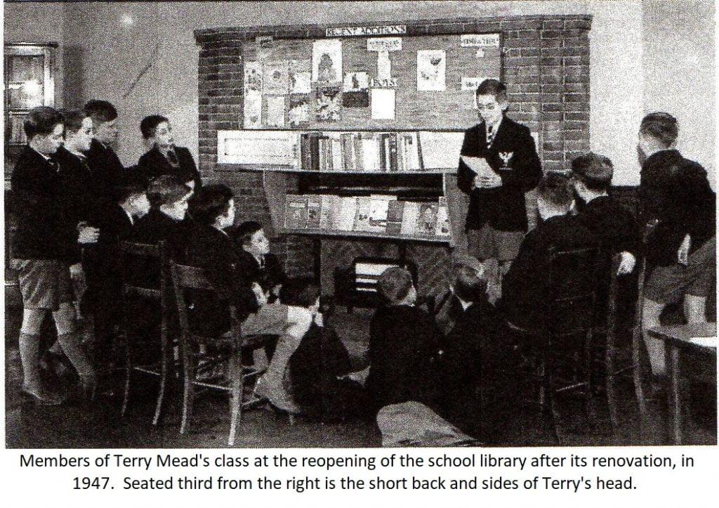 1947 Holloway School memories reopening school library Terry Mead