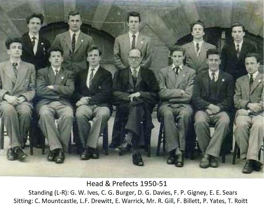 Head of Prefects 1950-51