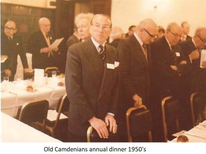 Old Camdenians annual dinner 1950s