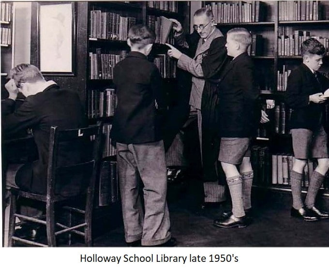 Holloway School Library late 1950s