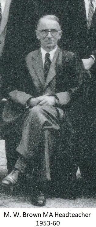 M.W. Brown MA Headteacher 1953-60