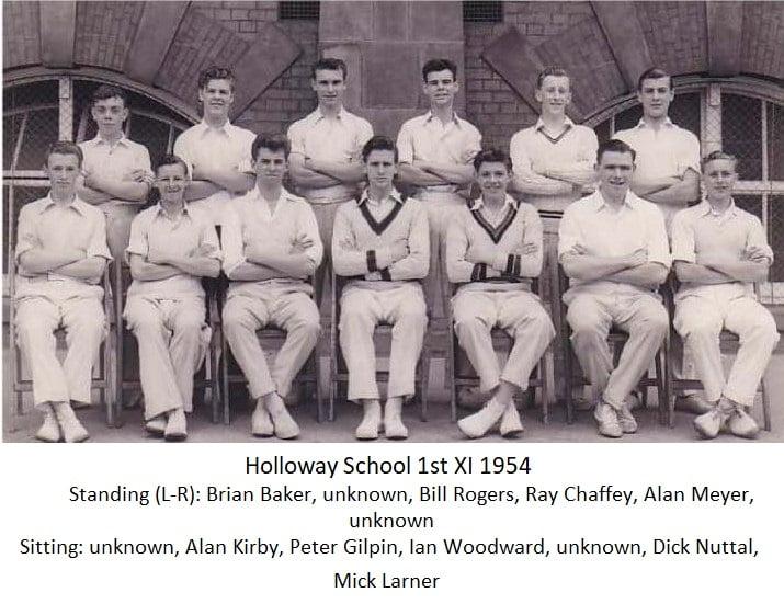 Holloway School 1st Xl 1954
