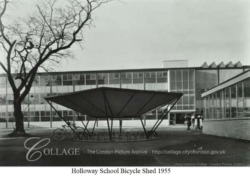 Holloway School Bicycle Shed 1955