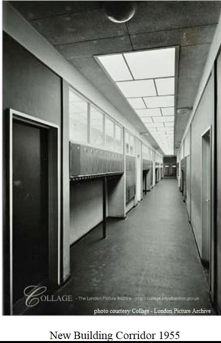 New Building Corridor 1955