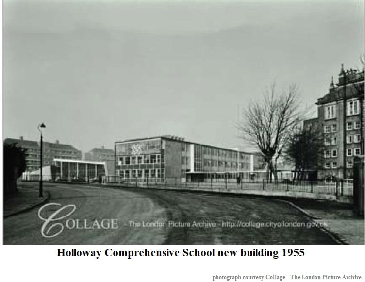 Holloway Comprehensive School new building 1955