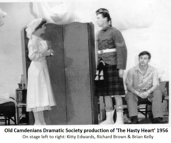 Old Camdenians Dramatic Society production of 'The Hasty Heart' 1956