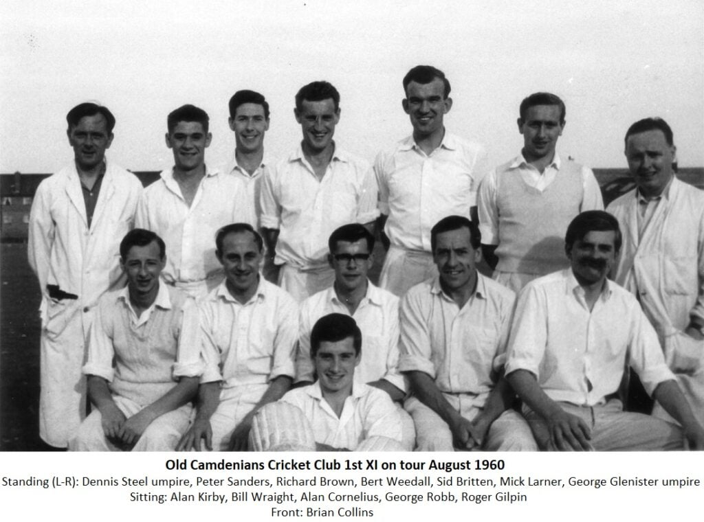 Old Camdenians Cricket Club 1st Xl on tour August 1960