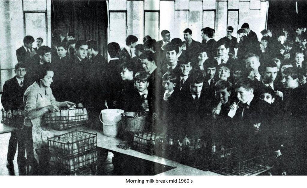 Morning milk break mid 1960s