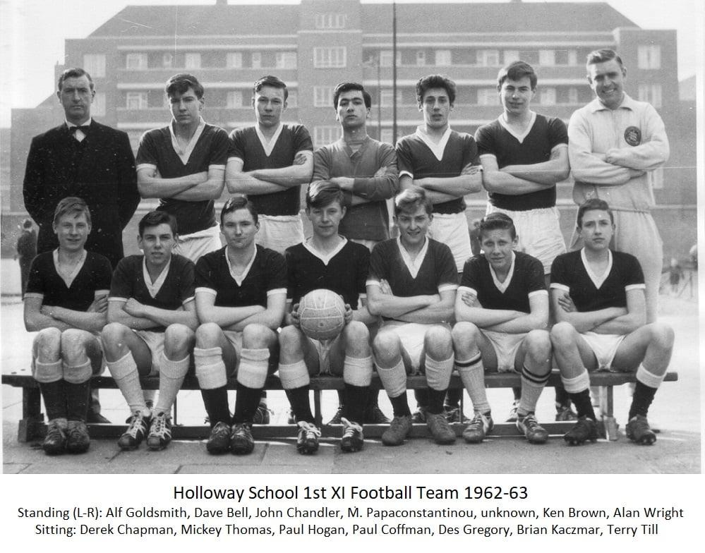 Holloway School 1st Xl Football Team 1962-63