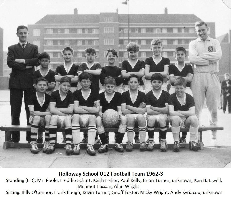 Holloway School U12 Football Teams 1962-3