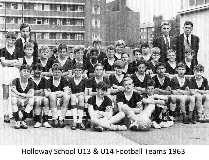 Holloway School U13 & U14 Football Teams 1963