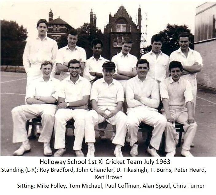 Holloway School 1st Xl Cricket Team July 1963