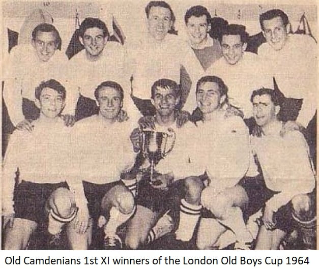 Old Camdenians 1st Xl winners of the London Old Boys Cup 1964