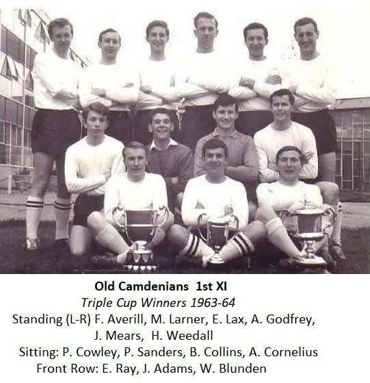 Old Camdenians 1st Xl – Triple Cup Winners 1963-64