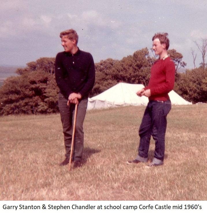 Garry Stanton & Stephen Chandler at school camp Corfe Castle mid 1960s