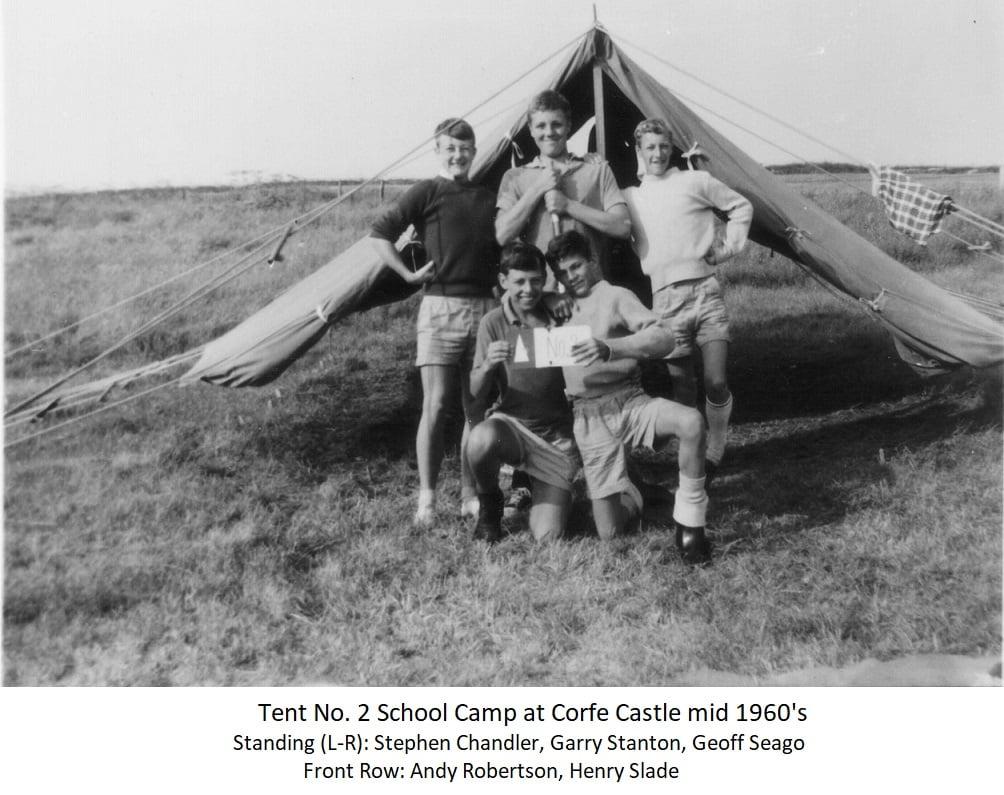 Tent No.2 School Camp at Corfe Castle mid 1960s