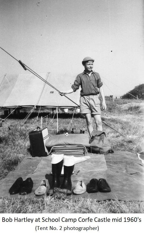 Bob Hartley at School Camp Corfe Castle mid 1960s