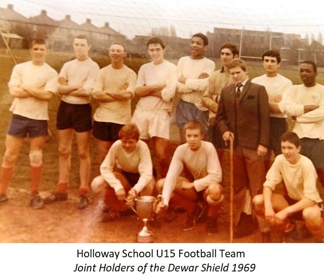 1969 Holloway School U15 team joint holders Dewar Shield