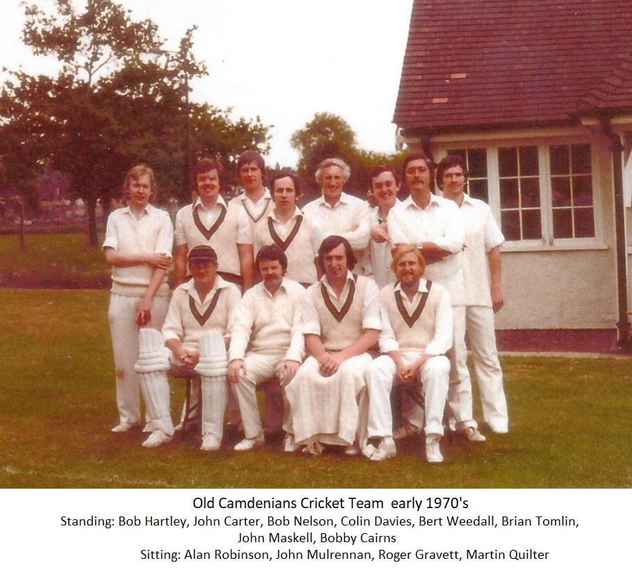 Old Camdenians Cricket Team early 1970s