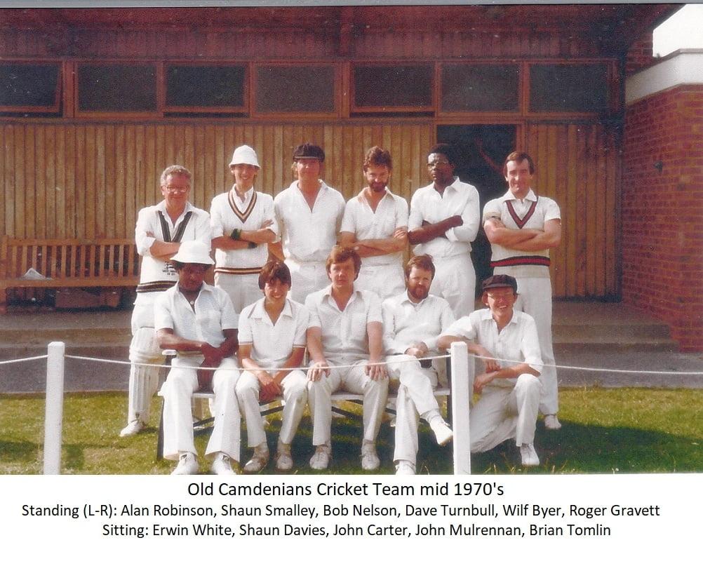 Old Camdenians Cricket Team mid 1970s