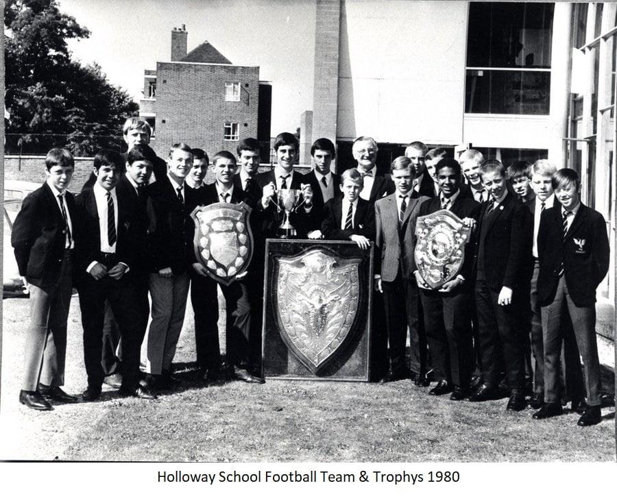 Holloway School Football Team & Trophy's 1980