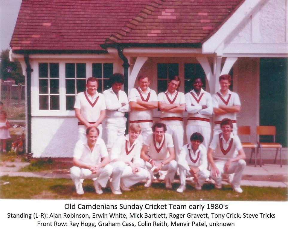 Old Camdenians Sunday Cricket Team early 1980's