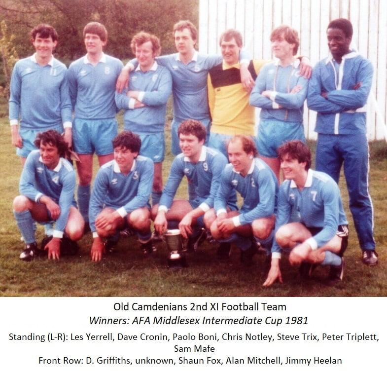 1981 2nd XI winning team