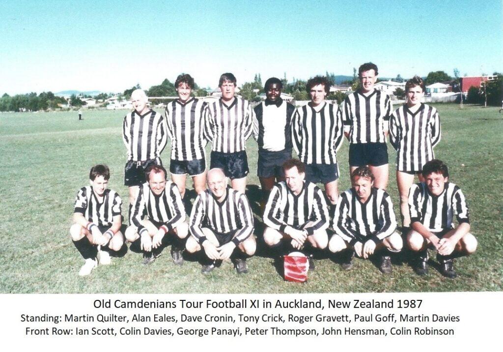 Old Camdenians Tour Football Xl in Auckland, New Zealand 1987
