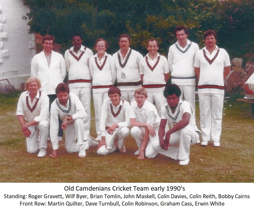 Old Camdenians Cricket Team early 1990's