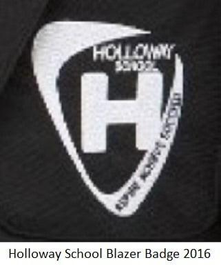 Holloway School Blazer Badge 2016