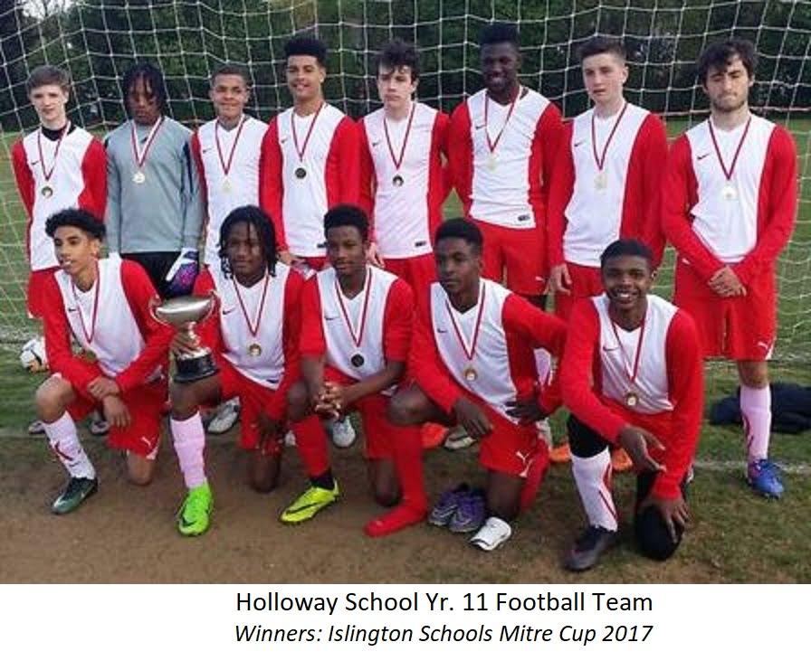 Holloway School Yr. 11 Football Team