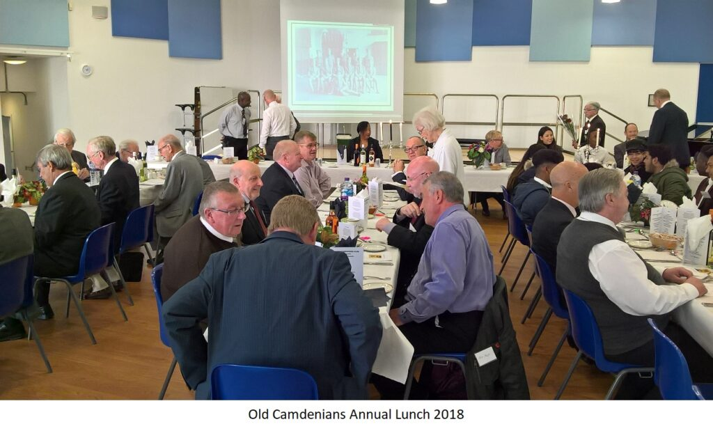 Old Camdenians Annual Lunch 2018