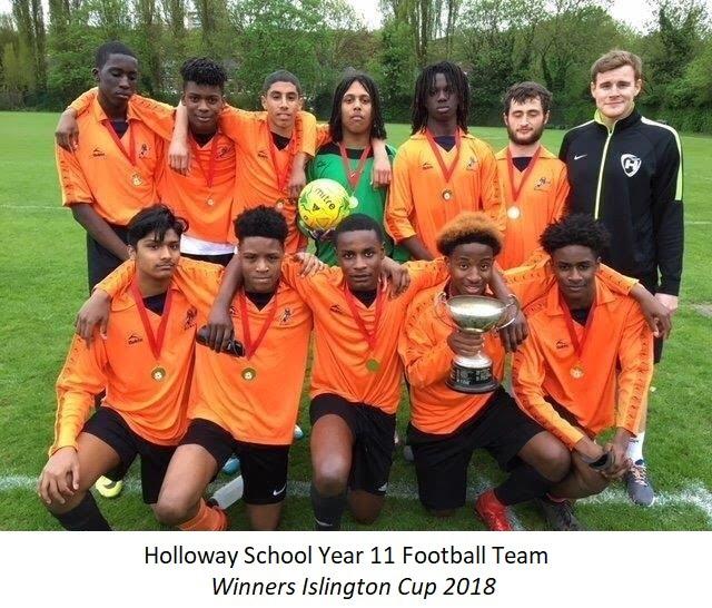 Holloway School Year 11 Football Team 2018